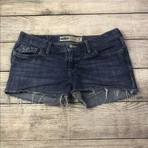 Hollister distressed cutoff short shorts